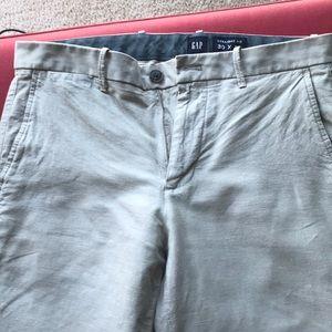GAP linen/cotton grey pants 30x30